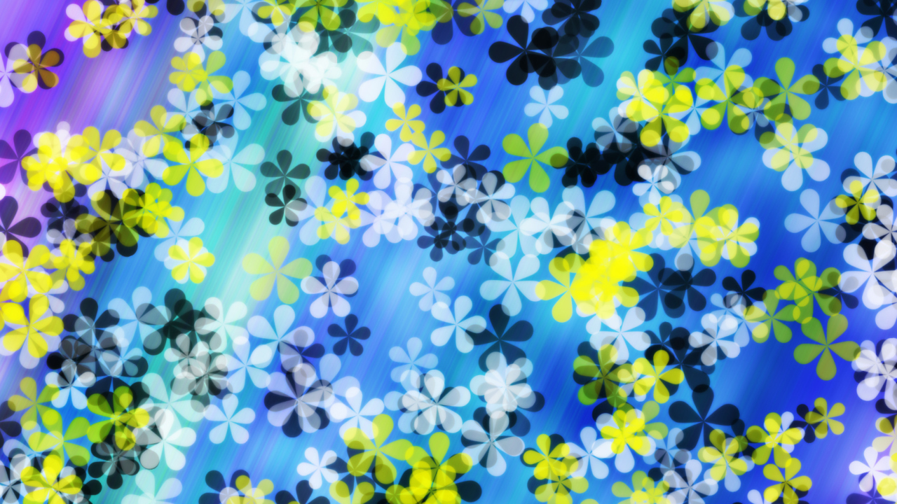 Yellow And Blue Flowers Pattern
