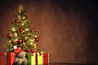 Christmas Presents Under Christmas Tree Background for Android, iPhone and iPad