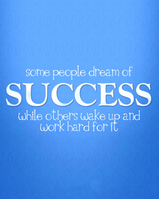 Success Quote sfondi gratuiti per Nokia Asha 311