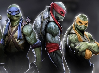Ninja Turtles 2014 Background for Android, iPhone and iPad