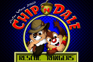 Chip and Dale Cartoon Background for Android, iPhone and iPad
