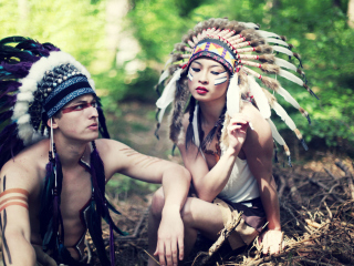 Screenshot №1 pro téma Indian Feather Hat 320x240