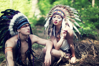 Indian Feather Hat Wallpaper for Android, iPhone and iPad