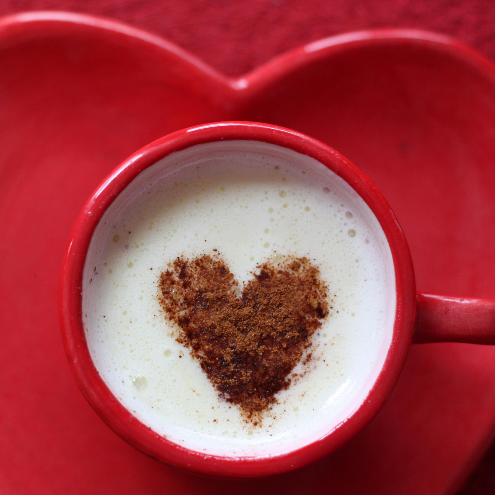 Сердце капучино чашка бесплатно