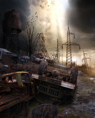 Breathtaking Post Apocalypse Artwork Background for Nokia Asha 311