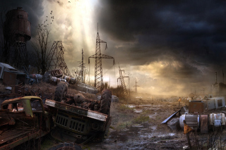 Breathtaking Post Apocalypse Artwork sfondi gratuiti per Samsung Galaxy Ace 3