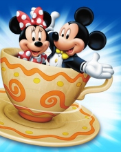 Screenshot №1 pro téma Mickey And Minnie Mouse In Cup 176x220