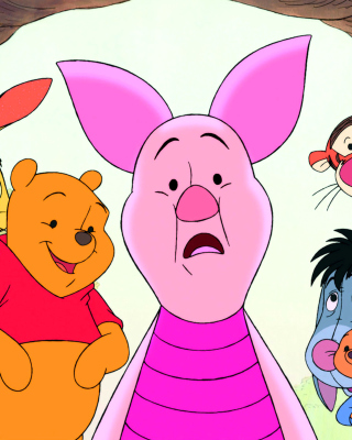 Kostenloses Winnie the Pooh with Eeyore, Kanga & Roo, Tigger, Piglet Wallpaper für Nokia C6