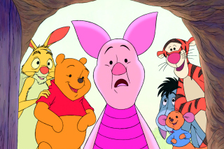 Winnie the Pooh with Eeyore, Kanga & Roo, Tigger, Piglet Background for Android, iPhone and iPad