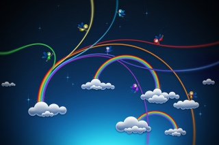 Rainbows Background for Android, iPhone and iPad