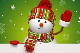 Friendly Snowman Wallpaper for Android, iPhone and iPad