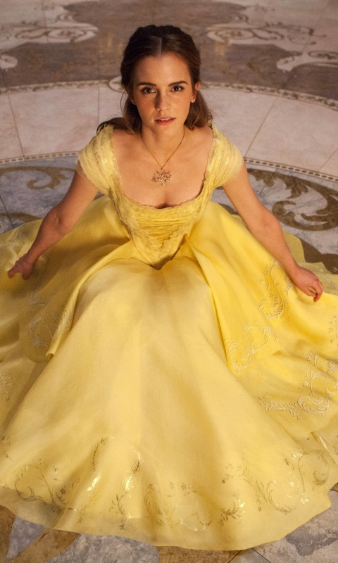 Emma Watson in Beauty and the Beast wallpaper 480x800