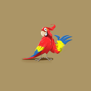 Funny Parrot Drawing sfondi gratuiti per iPad mini