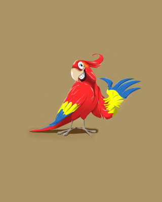 Funny Parrot Drawing papel de parede para celular para iPhone 4S