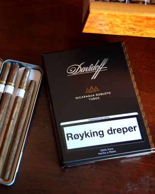 Davidoff and Cohiba Cigars Background for Nokia C1-01