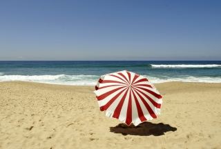 Umbrella On The Beach Picture for Android, iPhone and iPad