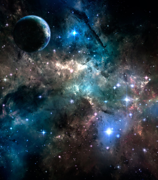 Deep Dark Space Wallpaper for Nokia X3