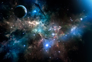 Deep Dark Space Wallpaper for Android, iPhone and iPad