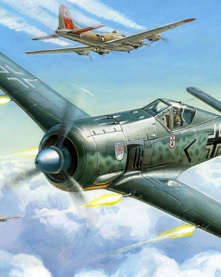 Focke Wulf Fw 190 Wallpaper for Nokia Asha 300