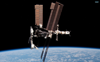 International Space Station Background for Android, iPhone and iPad