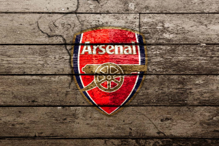 Kostenloses Wooden Arsenal Badge Wallpaper für Samsung I9080 Galaxy Grand