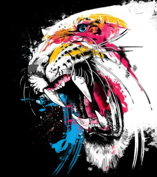 Tiger Colorfull Paints sfondi gratuiti per iPad 3