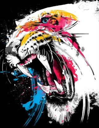 Tiger Colorfull Paints sfondi gratuiti per iPhone 6 Plus