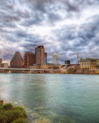 USA Sky Rivers Bridges Austin TX Texas Clouds HDR sfondi gratuiti per Nokia Lumia 925