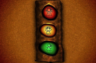 Kostenloses Stop Lights Wallpaper für Sony Xperia Tablet S
