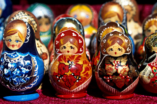 Matryoshka   Russian Dolls Background for Android, iPhone and iPad