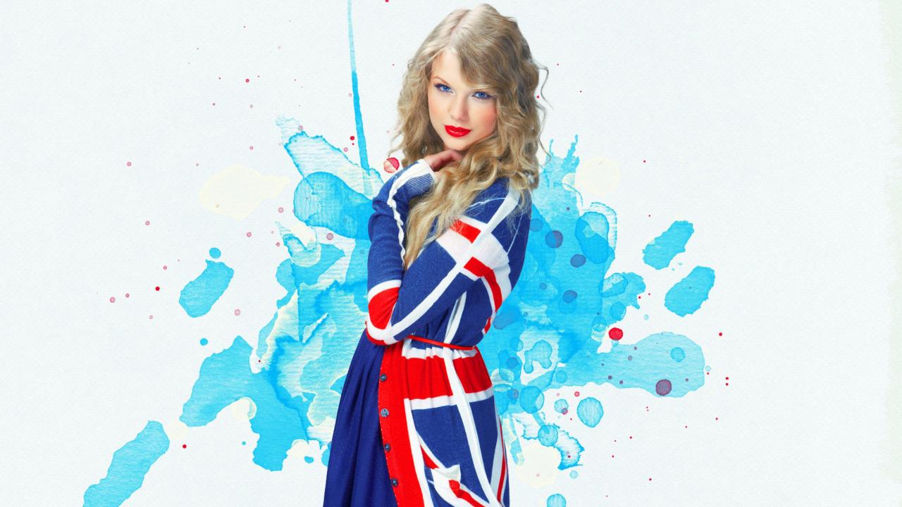 Taylor Swift British Flag Colors
