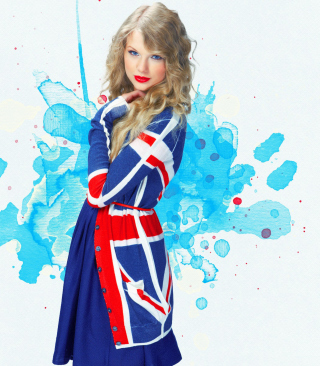 Taylor Swift British Flag Colors Wallpaper for HTC Titan