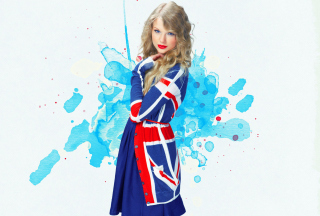 Taylor Swift British Flag Colors sfondi gratuiti per cellulari Android, iPhone, iPad e desktop