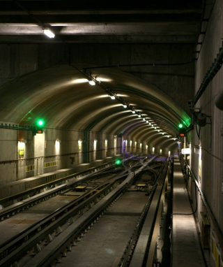 Free Deep Modern Subway Tunnel Picture for Nokia C1-01