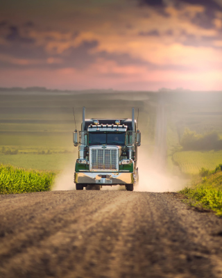 American Truck Background for Nokia Asha 311