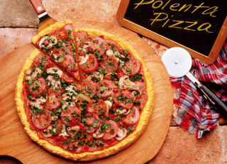 Pizza With Tomatoes And Mushrooms Picture for Android, iPhone and iPad