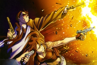 Black Lagoon Anime Characters Background for Android, iPhone and iPad