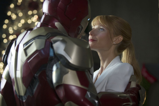 Iron Man And Pepper Potts Background for Android, iPhone and iPad