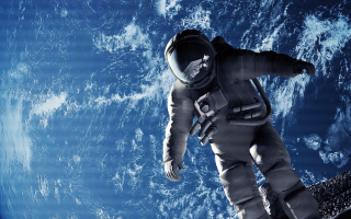 Cosmonaut In Space Picture for Android, iPhone and iPad