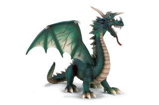 Free Emerald Dragon Picture for Android, iPhone and iPad