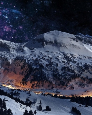 Night Mountain Background for 240x320