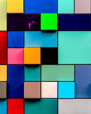Colored squares Wallpaper for HTC Titan
