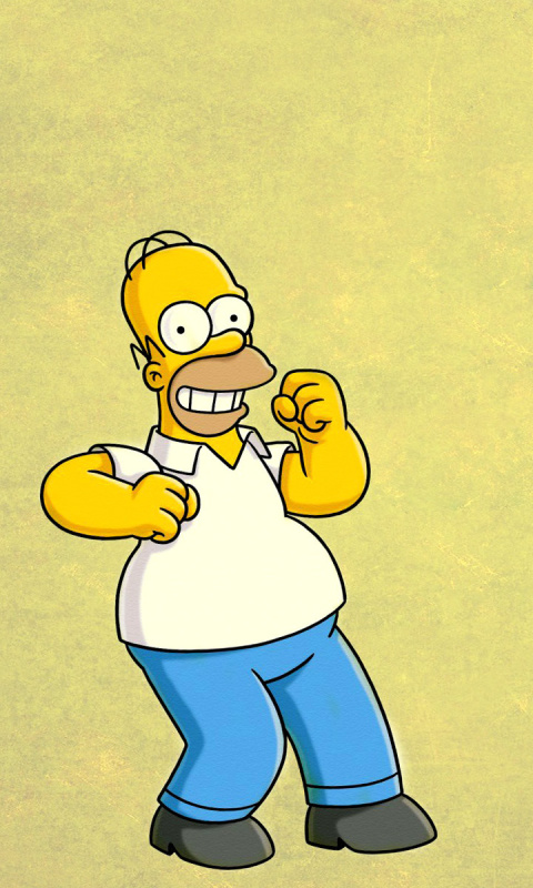 Homer simpson gif wallpaper for 480x800 - Simpsons info ...