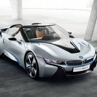 BMW i8 Hybrid Coupe sfondi gratuiti per iPad mini