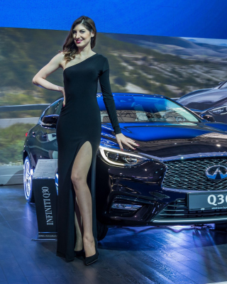 Infiniti Q30 Frankfurt Auto Show Background for Nokia Asha 306