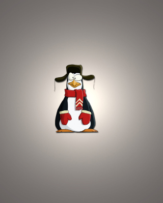 Funny Penguin Illustration Wallpaper for Nokia C2-06