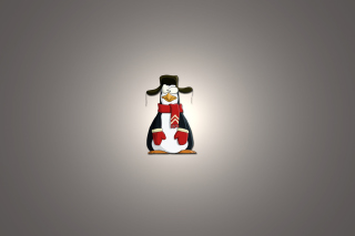 Funny Penguin Illustration Background for Android, iPhone and iPad