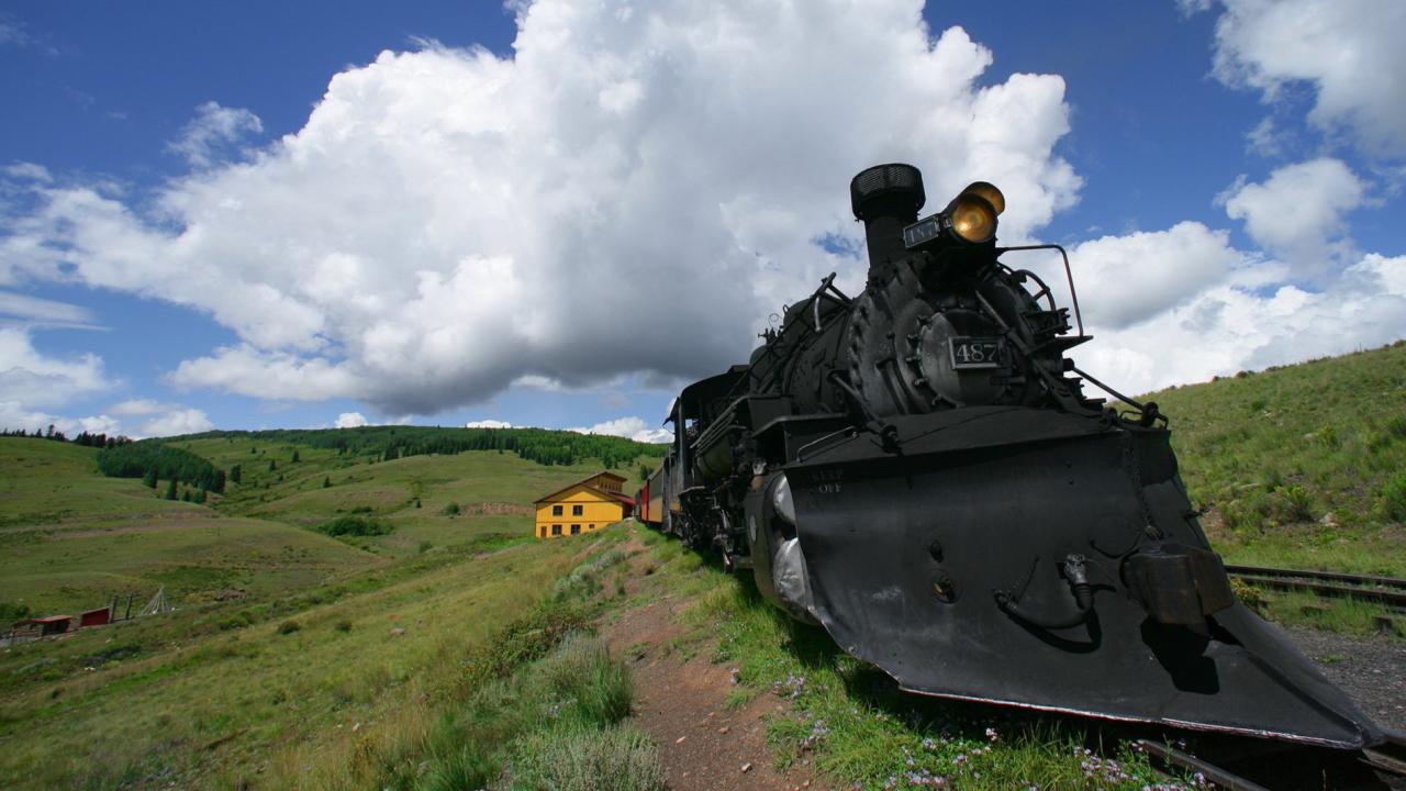 Train In Field