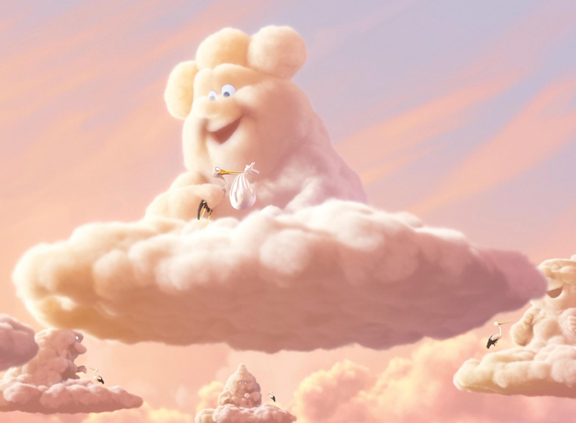 Прикольные облака рисунок