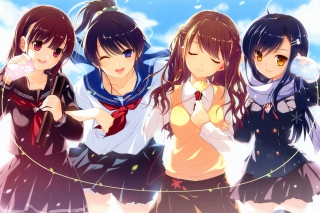 Anime Schoolgirls sfondi gratuiti per cellulari Android, iPhone, iPad e desktop